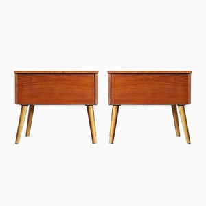 MId-Century Teak Nightstands from Relax, 1960s, Set of 2