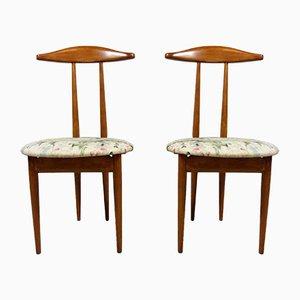 Bett- oder Ankleidezimmer Beistellstühle & Kammerdiener in Einem, 1950er, 2er Set