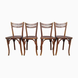 Bistro Chairs from Baumann, 1920s, Set of 4