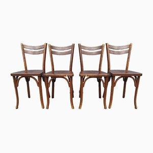 Bistro Stühle von Baumann, 1920er, 4er Set