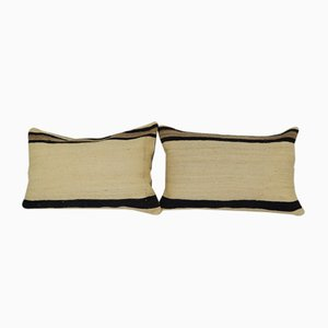 Turkish Organic Hemp Lumbar Cushion Covers, Set of 2