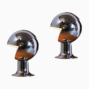 Eclisse Adjustable Globe Table or Wall Lamps, 1960s, Set of 2