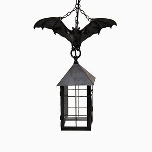 Antique French Cast Iron Bat Lantern