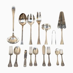 Silver-Plated Malmaison Flatware from Christofle, 1990s, Set of 128