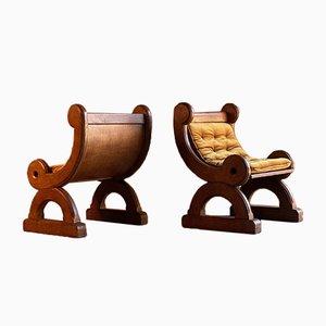 Antike Gotische Revival Stühle, 1850er, 2er Set