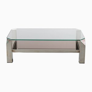 Vintage Chrome Coffee Table from Belgo Chrom, Belgium, 1970s