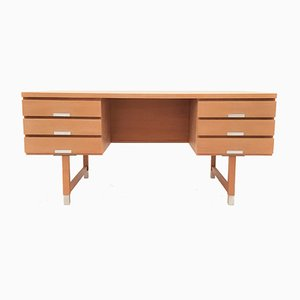 Mid-Century Danish Oak EP Model 401 Executive Desk from Ejgil Petersens Møbelfabrik, 1960s
