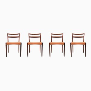 Rosewood Dining Chairs by Hans Østergaard for Randers Møbelfabrik, 1960s, Set of 4