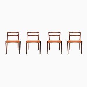 Rosewood Dining Chairs by Hans Østergaard for Randers Møbelfabrik, 1960s, Set of 4