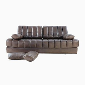 DS 85 Sit Sleep Sofa in Brown Leather by de Sede, 1970s