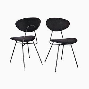 Chaises Noires par Rob Parry pour Gelderland, Set de 2