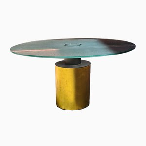 Vintage Italian Creso Round Dining Table by Massimo & Lella Vignelli for Acerbis, 1980s