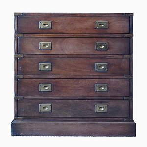 Small Antique Military Campaign Chest of Drawers