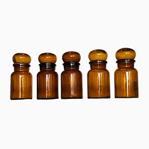 Antique Apothecary Jars from Douwe, Set of 5