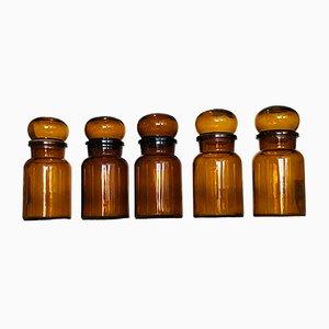 Vasetti da farmacia antichi di Douwe, set di 5