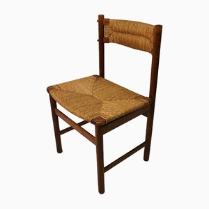 Vintage Ash and Straw Dining Chair, 1950s