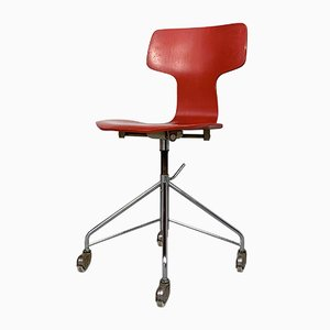 1st Edition FH3113 Swivel Desk Chair by Arne Jacobsen for Fritz Hansen, 1950s
