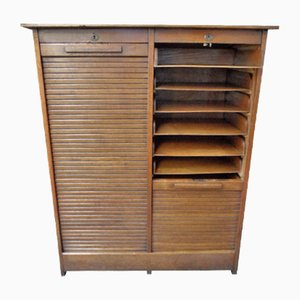 Antique Filing Cabinet with 2 Roller Shutters