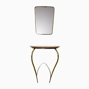 Mid-Century Console Table with Mirror by Carlo Rava, 1950s, Set of 2