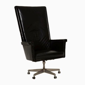 Vintage Leather Swivel Desk Chair by John Home for Howard Keith, 1960s