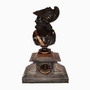 Clock Bust Bronze Clock of Pericles from Hersant Paris, 1873