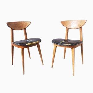 Chaises de Salon, France, 1950s, Set de 2