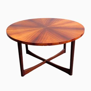 Rosewood Veneer and Teak Coffee Table, 1960s