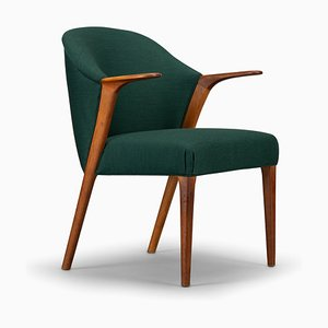 Dark Green Armchair from Larsen & Son, 1950s