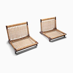Low Lounge Chairs by Hans Olsen, 1960s, Set of 2