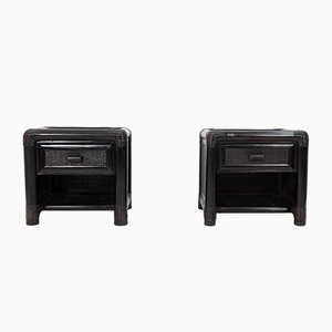 Wicker Nightstands, 1978, Set of 2