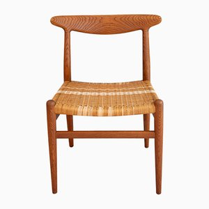 W2 Esszimmerstühle aus Eiche von Hans J. Wegner für CM Madsen, 1950er, 4er Set