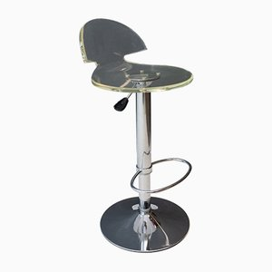 Vintage Lucite and Chrome Stool, 1978