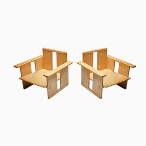 Vintage Crate Chairs by Tobia & Afra Scarpa for Maxalto, 1970s, Set of 2