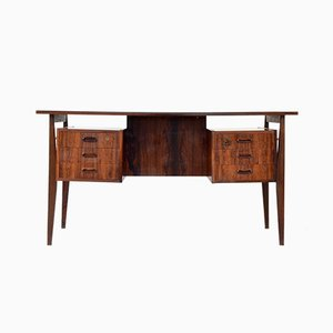 Mid-Century Danish Rosewood Executive Desk, 1960s
