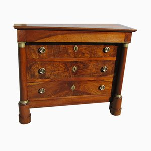 19th Century Empire Walnut Chest of Drawers