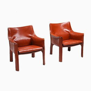 414 CAB Armchairs by Mario Bellini for Cassina, 1982, Set of 4