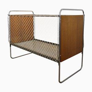 Bauhaus Crib by Rudolf Vichr for Vichr a Spol Praha, 1940s