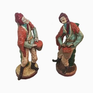 Ceramic Sculptures, 1980s, Set of 2
