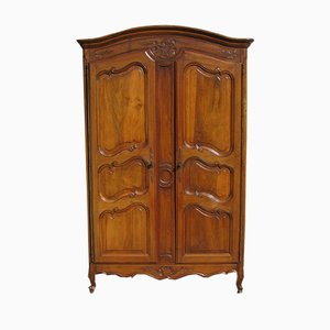 Antique Louis XV Style Walnut Wardrobe