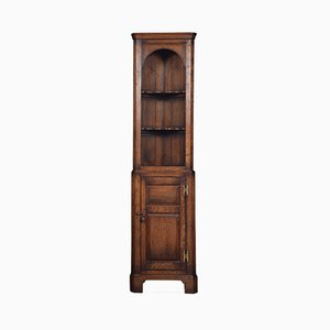 Antique Narrow Oak Corner Cupboard
