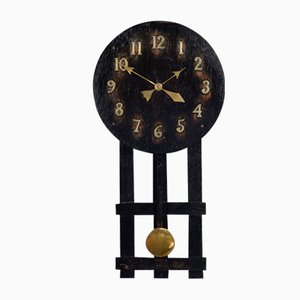 Antique Oak Wall Hanging Missionary Clock