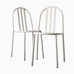 Chaises de Salon Blanches par Robert Mallet Stevens, Set de 2
