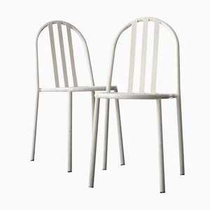 White Dining Chairs by Robert Mallet Stevens, Set of 2
