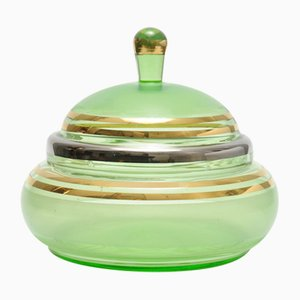 Art Deco Style Glass Box from De Rupel, 1950s