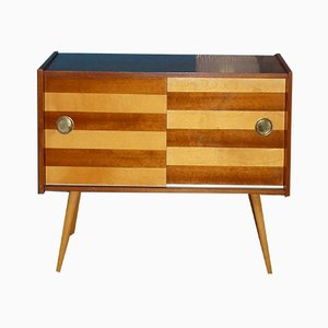 Mid-Century Mini 2-Tone Stripe Chest of Drawers