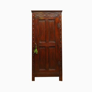 Antique Oak Cupboard Linen Press Larder