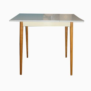 Small Mid-Century Formica and Wood Kitchen Table, 1950s