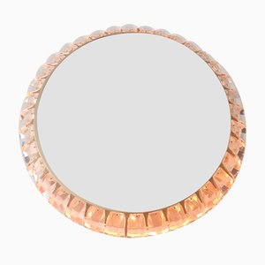 Mid-Century Illuminated Crystal and Brass Mirror from Palwa, 1960s