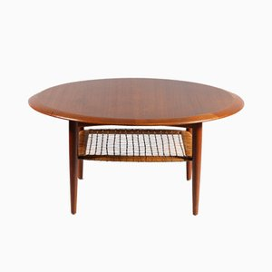 Round Teak Coffee Table by Johannes Andersen for CFC Silkeborg, Denmark, 1950s