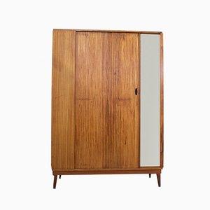 Teak Veneer Tambour Wardrobe from Austinsuite, 1960s